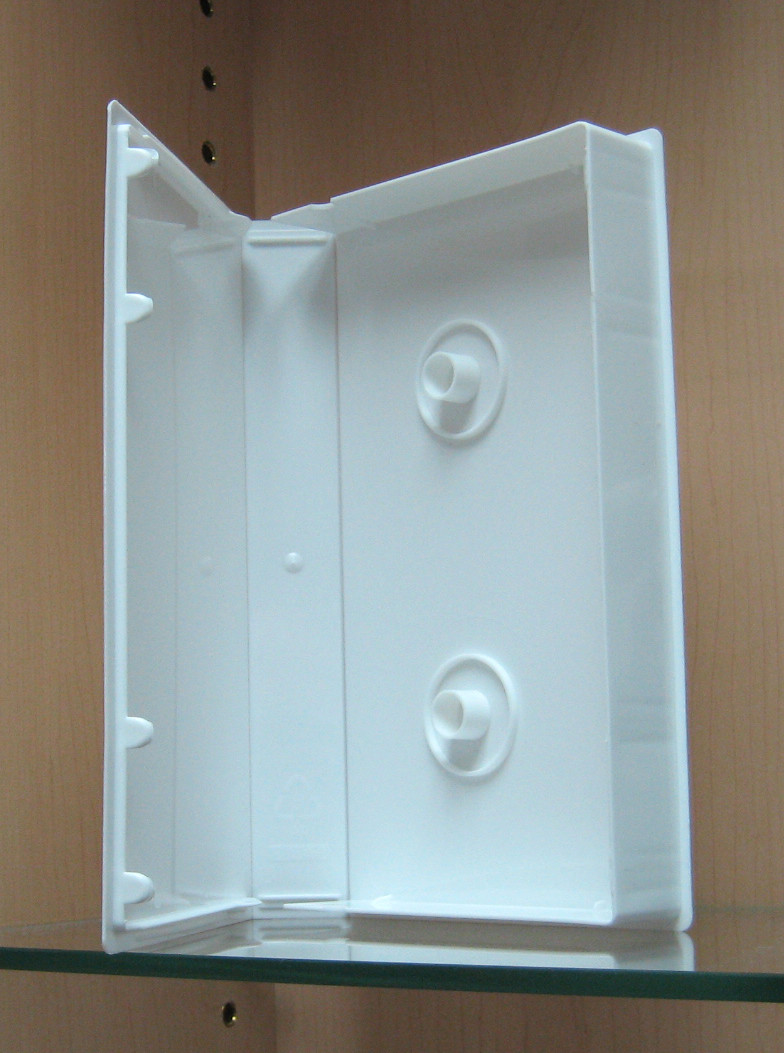 Vhs White Plastic Library Case 2pk Video Products