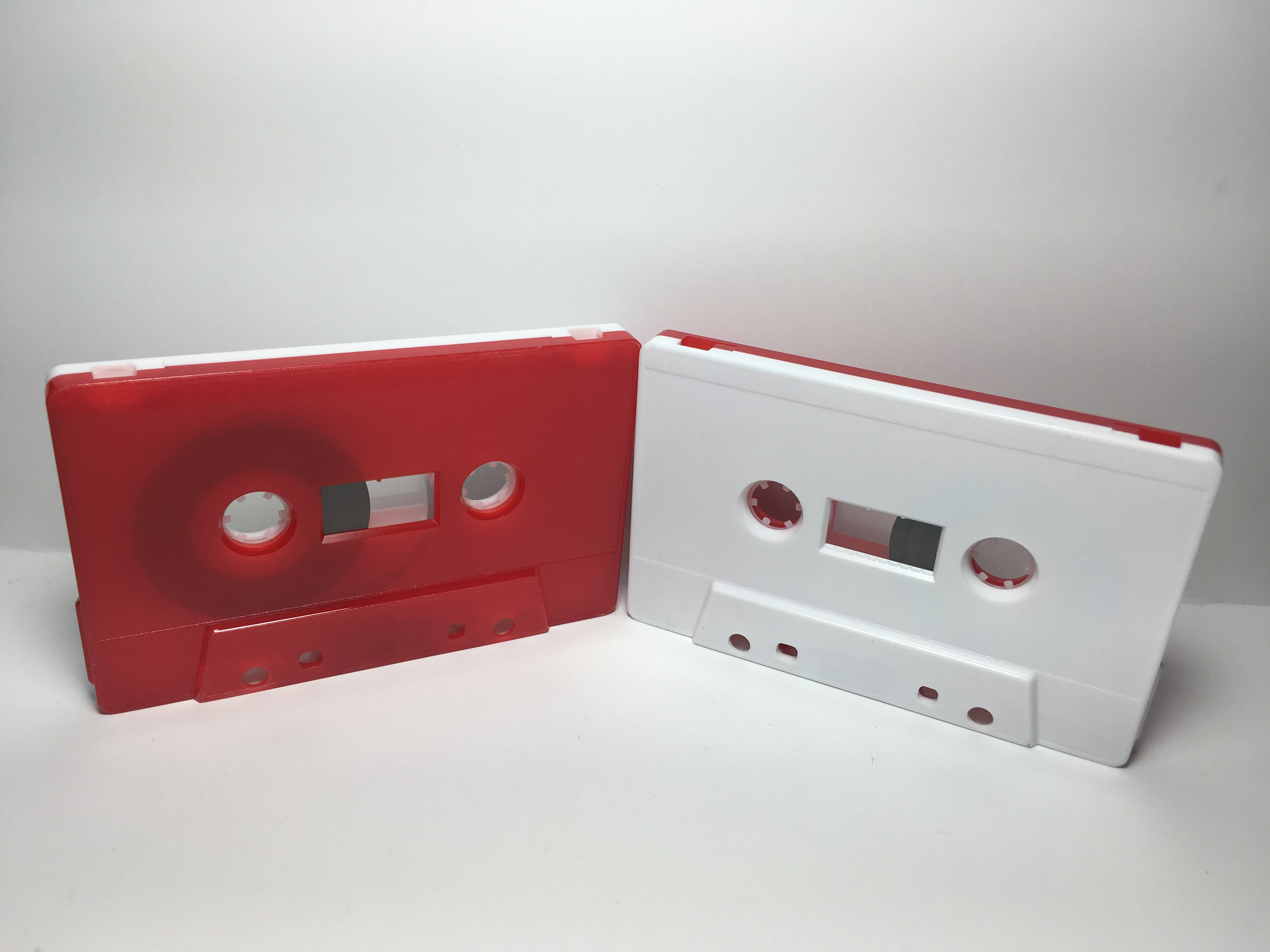 C-50 Normal Bias White & Red Cassettes 5 Pack