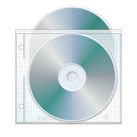 2 Hole Top Load CD/DVD Page
