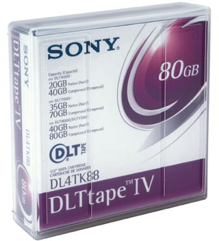 Sony DLTtape IV, 80 GB Backup Tape, compatible with DLT4000 & DLT7000 & DLT1/VS80 drives, FREE Postal Shipping