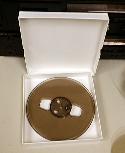 7 Inch x 1 Inch 2 Piece Box for Audio Reels and Vinyl