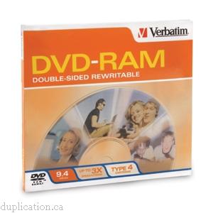 Verbatim Disk Dvd Ram 9 4gb R W Doublesided Type 4