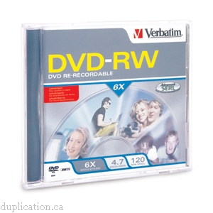 DVD-RW 4.7GB 6X BRANDED 5PK JEWEL CASE