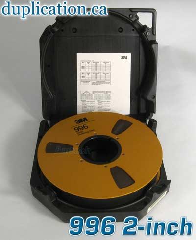 3m 996 2 inch mastering tape reel to reel blank media