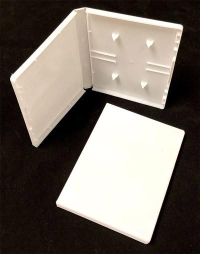 Audio Cassette Double Album Case, White, Polypropylene