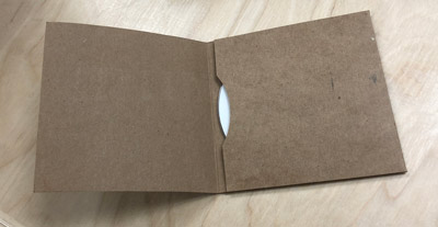 3 Panel Chipboard Jacket, flat not glued