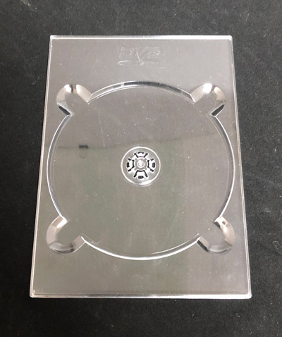 DVD Digi Tray - Clear With Logo
