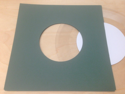 "Forest Green Inner Sleeve for 7"" Vinyl Record - 50 Pack"
