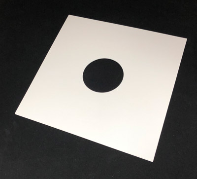 12 Inch Record Jackets, White, Glossy, With Holes on Both Sides 14pt, 50 Pieces Liquidation