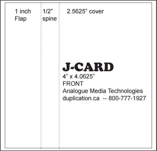Audio Cassette J-Cards, Printed Colour Both Sides, From 20 Pieces
