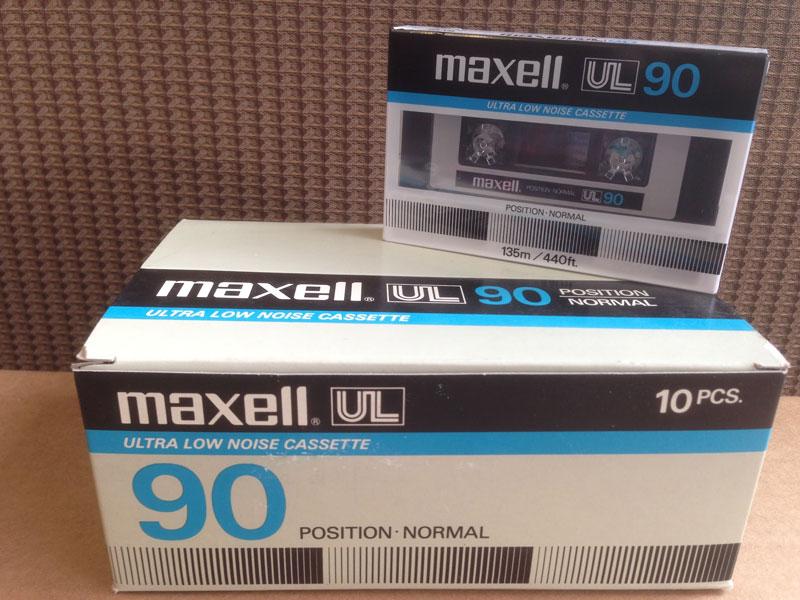 Maxell UL - 90 Type I Normal Bias Blank Audio Cassette