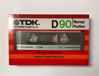 1982 Vintage TDK D-90 High Output Normal Bias Cassette Tape