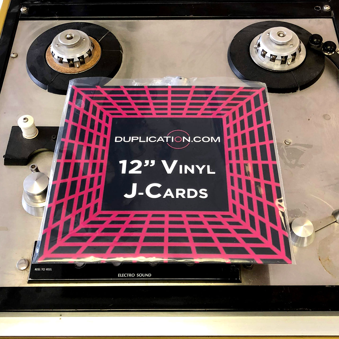 12 Inch J-Card for Vinyl Records, 4/0
