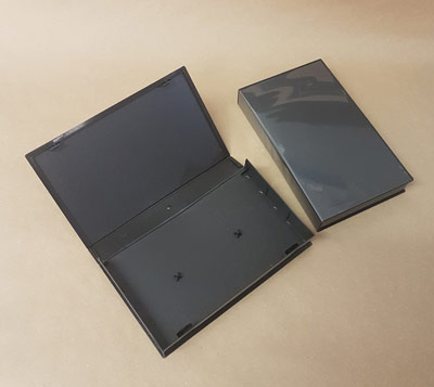 Black Poly Library Case for VHS Tapes