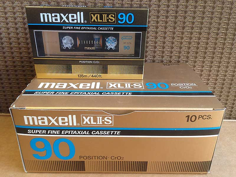 Maxell XLII-S 90 The Best High Bias CrO2 Blank Audio Cassette Tapes For Sale