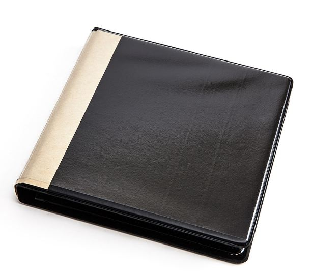 12 disc 2-ring Binder, Black