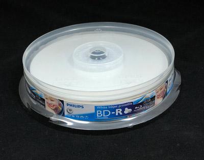 Philips Blu-ray 25GB 6X White Inkjet Printable 10-Pack
