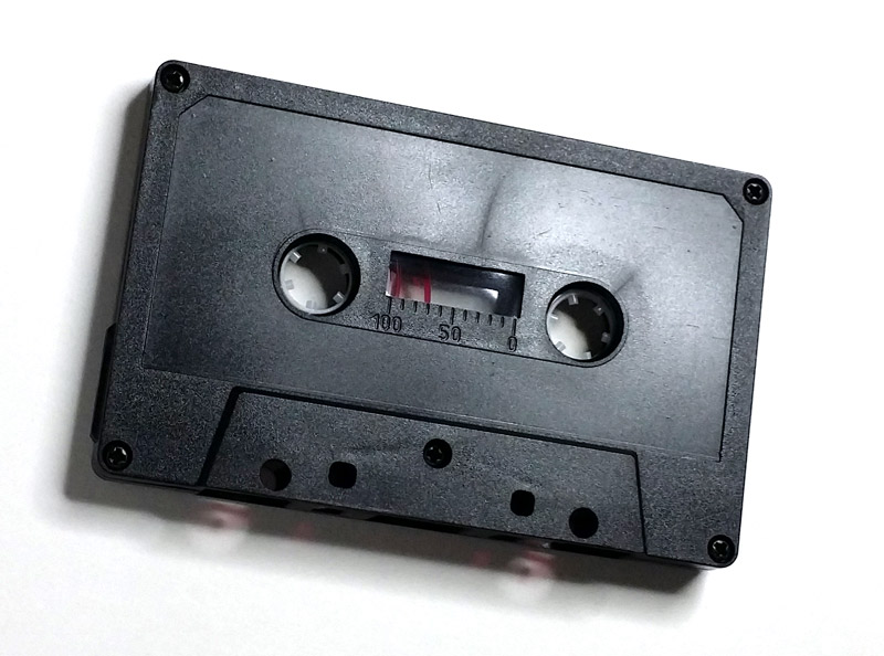 Blank Cassette Tapes Custom-Loaded With Low Noise (Voice-Grade) Normal Bias Tape And Your Choice Of Color