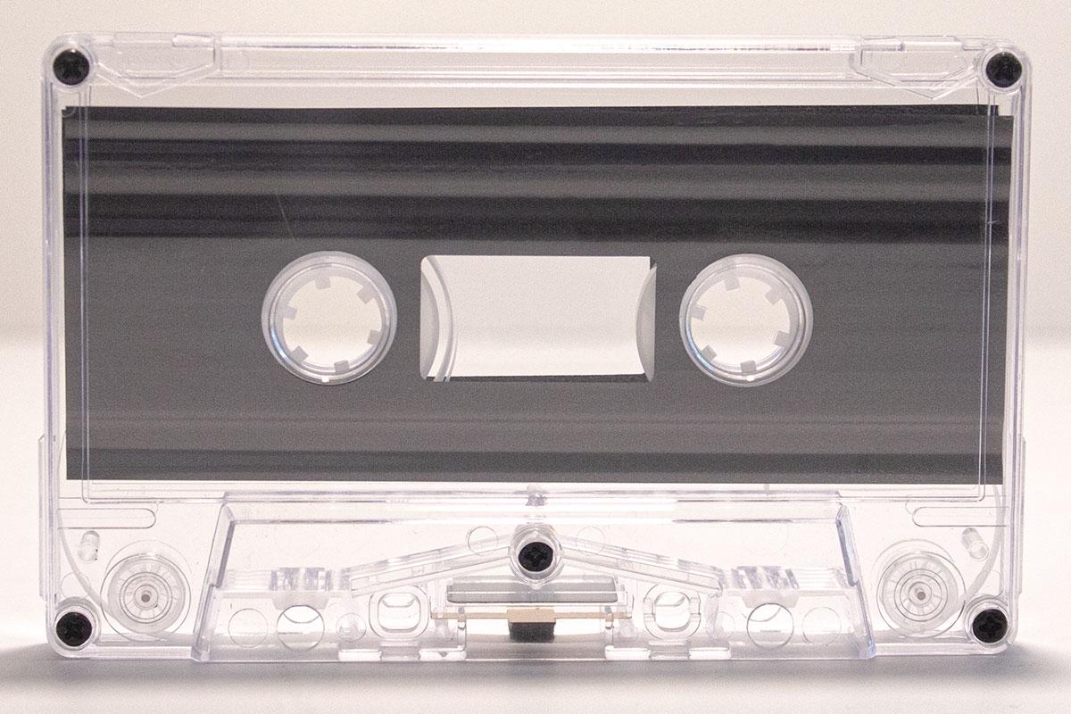 Blank Custom-Loaded Classic Clear Cassette