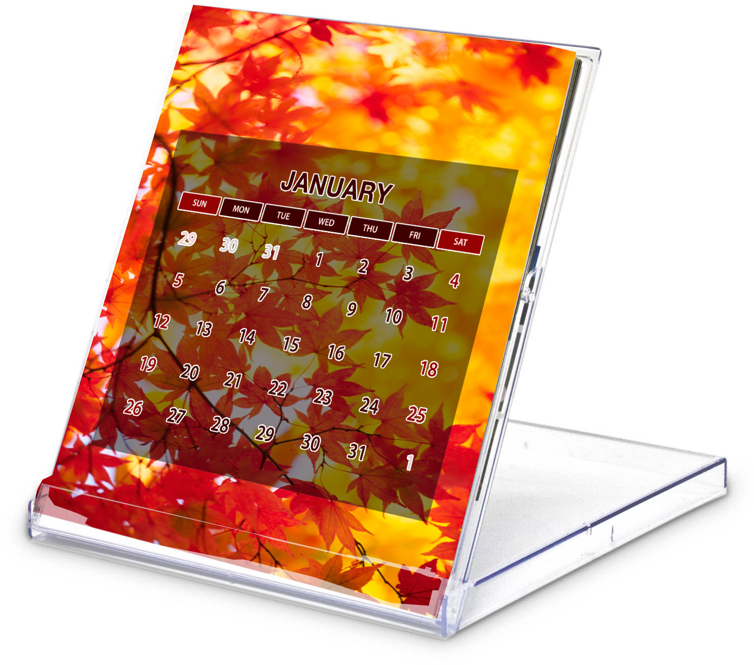 Custom Printed 2020 Calendar Case