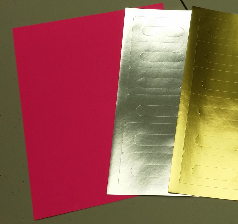 Fluorescent Pink Audio Cassette Labels for Laser and Inkjet Printers - 12 Up, Square Bottom Corners