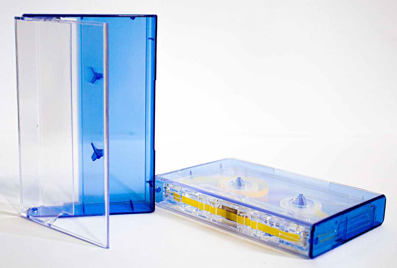Clear/Blue Tint Norelco Case for Audio Cassettes