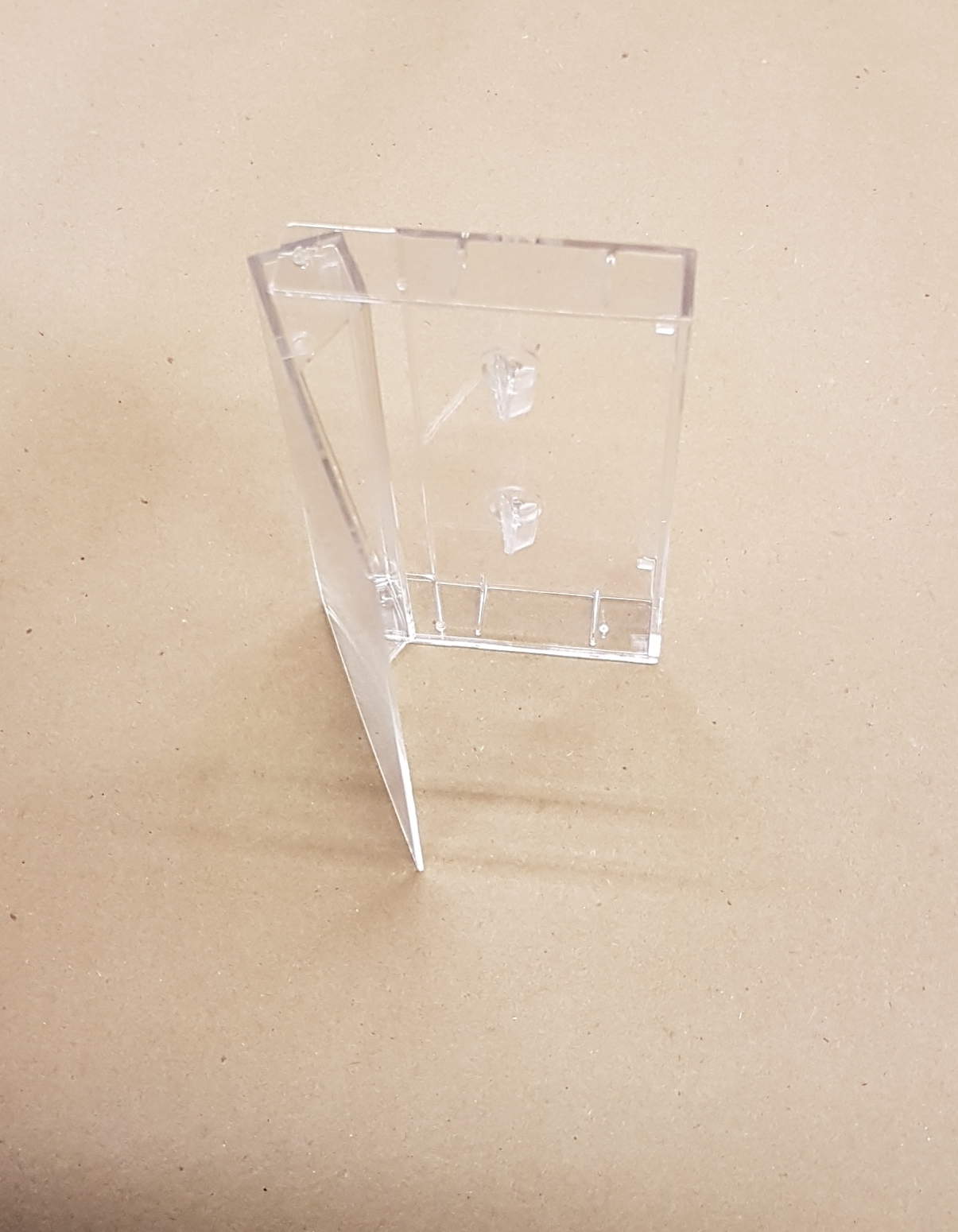 Clear Audio Cassette Box, narrow back