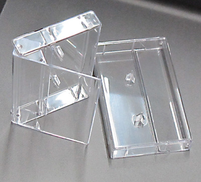 Clear Cassette Box With Rounded Corners, 400 pieces