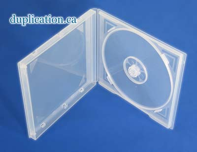 Super Clear CD Poly box Single or Double, 5.4 inch, no sleeve, 10mm PP10NS