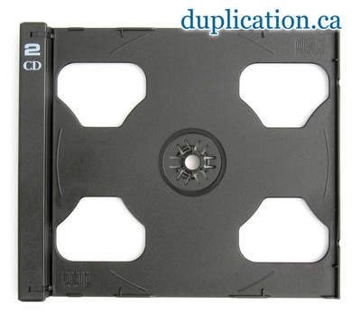 2-CD Black tray