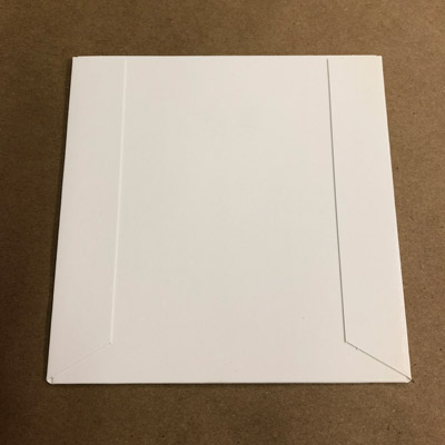 500 Cardboard sleeves for CD, coated board, glue flaps on outside
