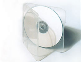 Square CD clamshell
