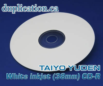 photograph relating to Inkjet Printable Cd called Taiyo Yuden Inkjet printable CD-R 38mm heart (100 areas) +CPCC LEVY