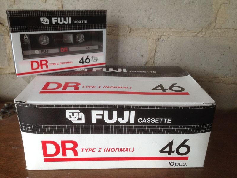 Fuji Dr 46 Type 1 Audio Cassette Tape Vintage Cassettes