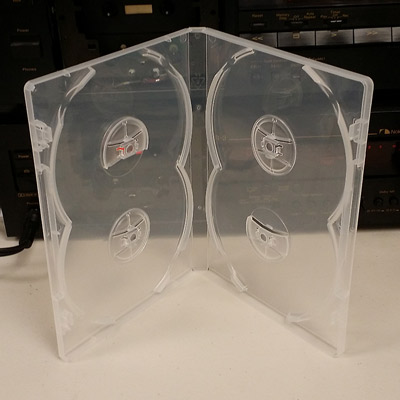 Pro Quality Clear 4-DVD Case, 14mm