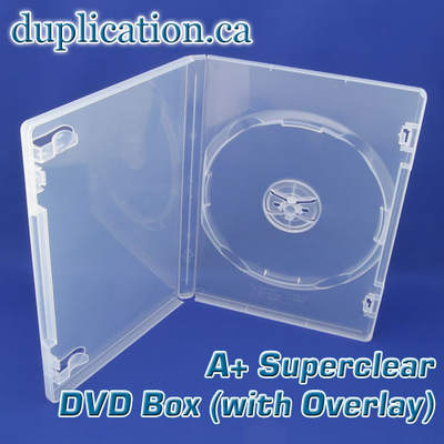 Super clear DVD box with overlay 25 Pieces