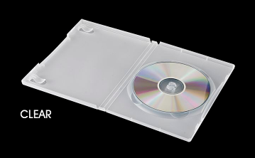 Original Amaray Clear Frosted DVD Case - 25 Pack