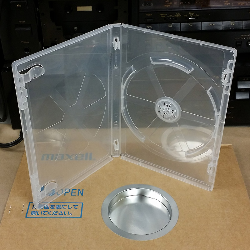 Pro Quality Super-Clear 15mm Single DVD Case Expandable To Hold 2 Discs