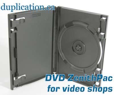 ZenithPac(tm) Secure DVD case for video shops