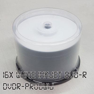 16X 4.7 GB DVD-R White Inkjet 50pk (Ritek)