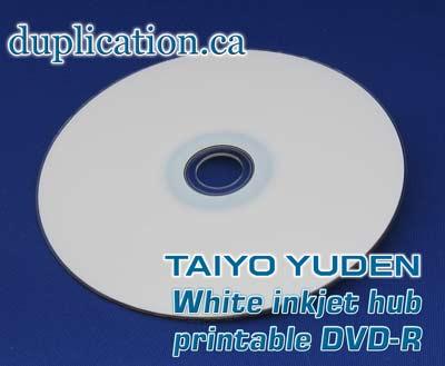 Taiyo Yuden 8X DVD-R White Inkjet Printable
