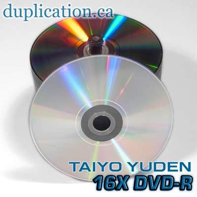Taiyo Yuden silver 16X DVD-R 100-pack