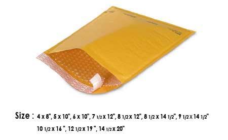 Padded bubble mailer envelope #1 size TORONTO STOCK