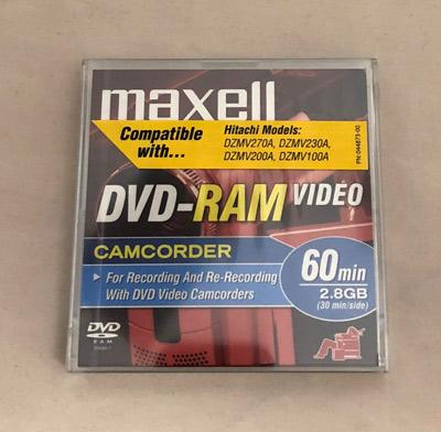 Maxell Mini DVD-RAM VIDEO 60 Minute 2.8 GB