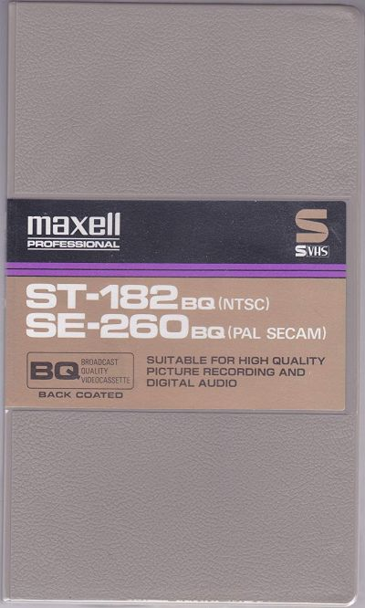 Maxell ST-182 BQ Broadcast Quality S-VHS Tape
