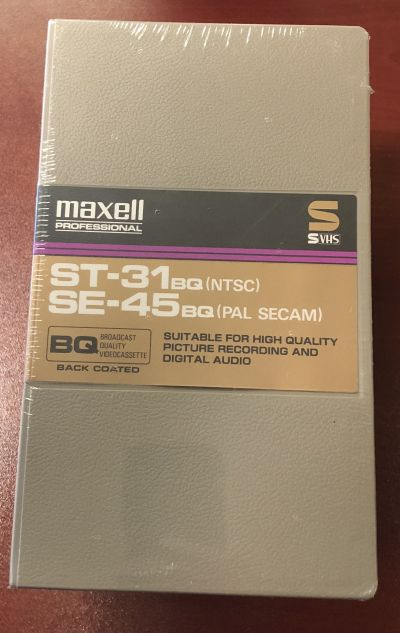 Maxell ST-31 BQ Broadcast Quality S-VHS Tape