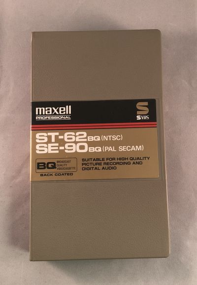 Maxell ST-62 SE-90 BQ Broadcast Quality S-VHS Tape