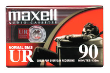 Maxell UR-90 Normal Bias Audio Cassette in Retail Packaging - 10 PACK
