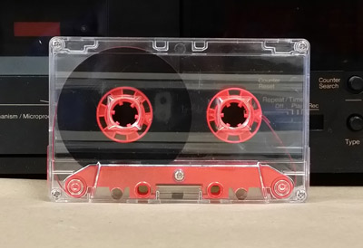 Blank Chrome Cassette Tapes with Hi-Def Red Bridge of Your Chosen Length TABS IN