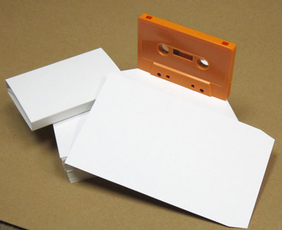 Audio Cassette O-Card Blank White Flats 100-pack